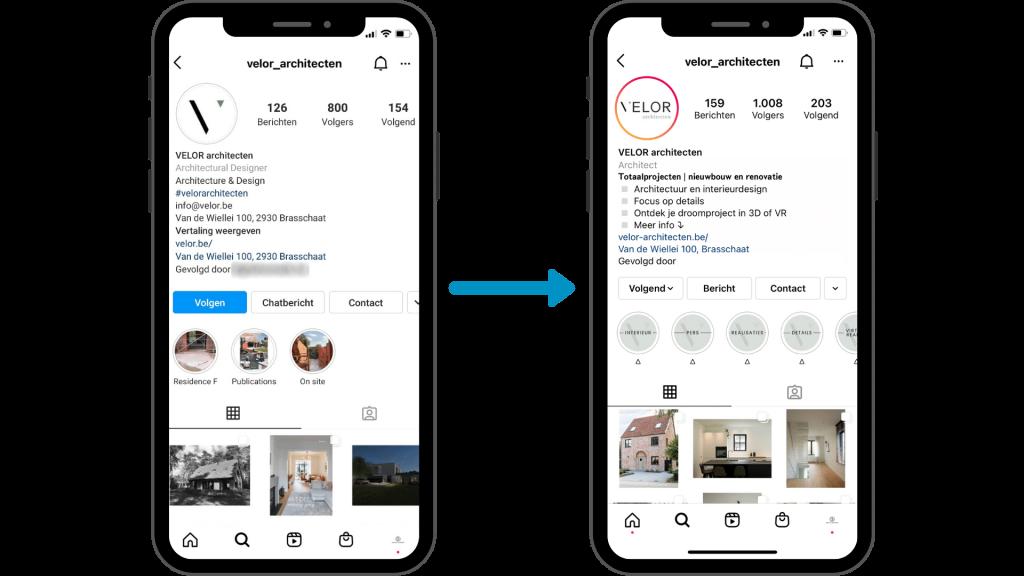 De eerste resultaten door social media beheer uit te besteden bij VELOR architecten