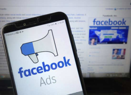 Konskie,,Poland,-,August,18,,2019:,Facebook,Ads,Logo,Displayed